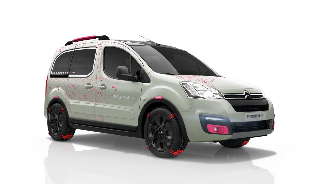 2015. g. Berlingo Mountain Vibe konceptauto, ¾ skats no aizmugures